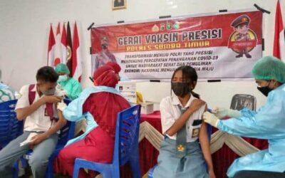 Siapkan KBM Tatap Muka, Gerai Vaksin Presisi Go To School Sasar Siswa SMAN 2 Waingapu Sumba Timur